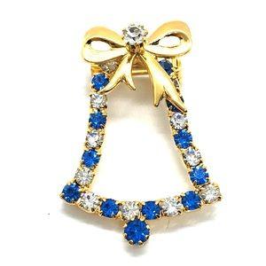 Christmas/Hanukkah Bell pin/brooch